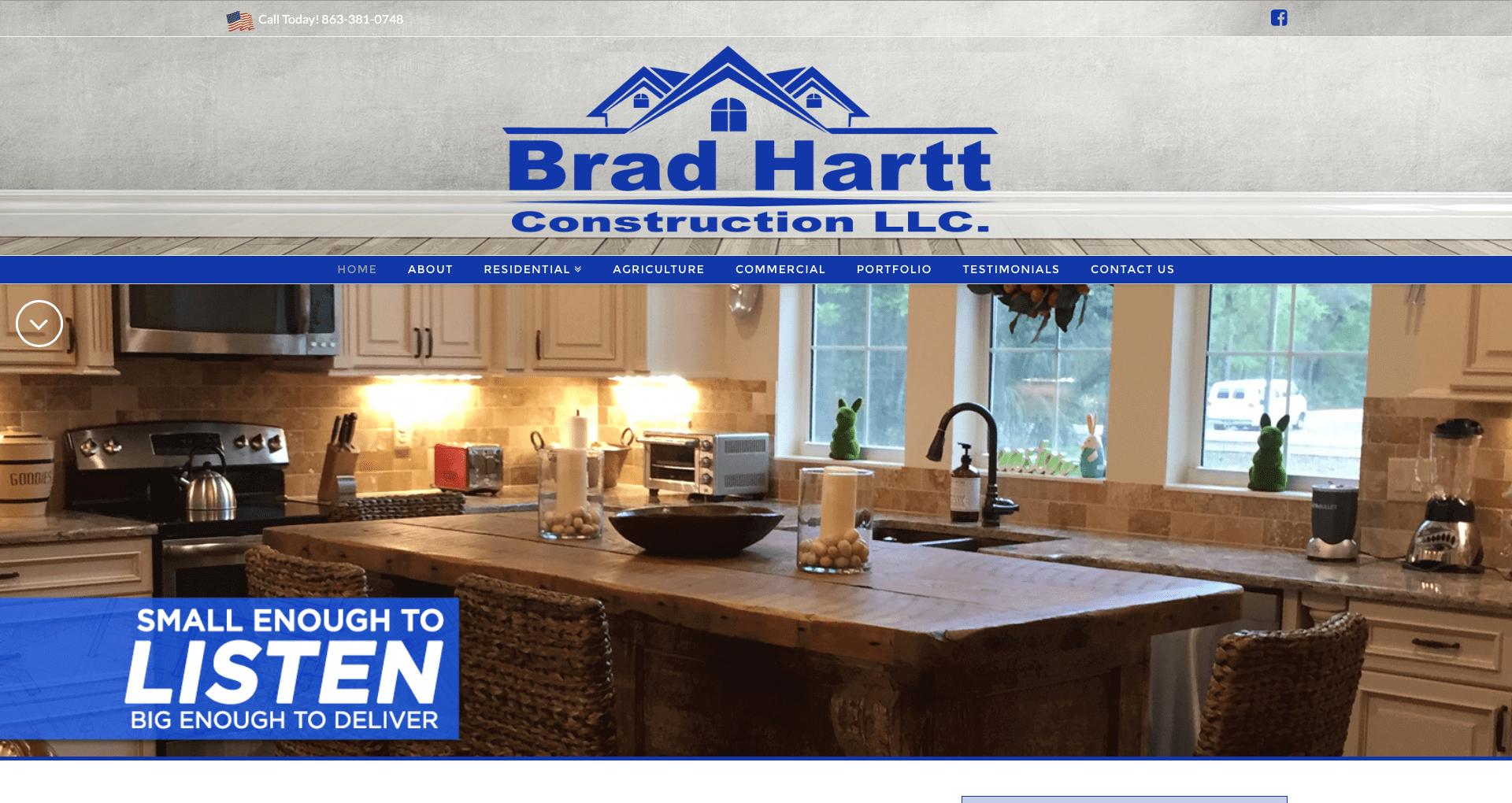 New website brad hartt construction ranch house designs for Ranch house designs inc