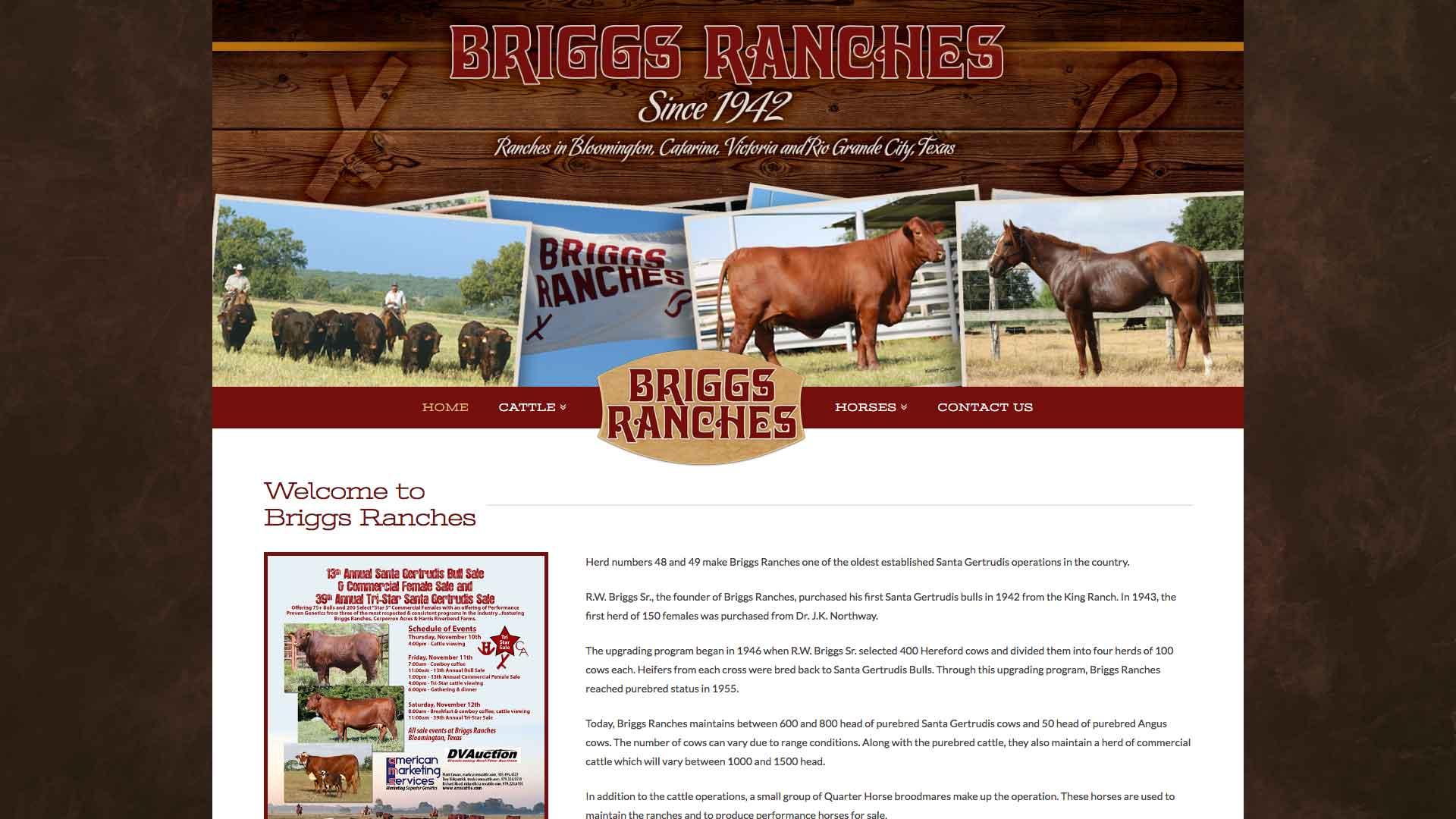 New website briggs ranch ranch house designs inc for Ranch house designs inc