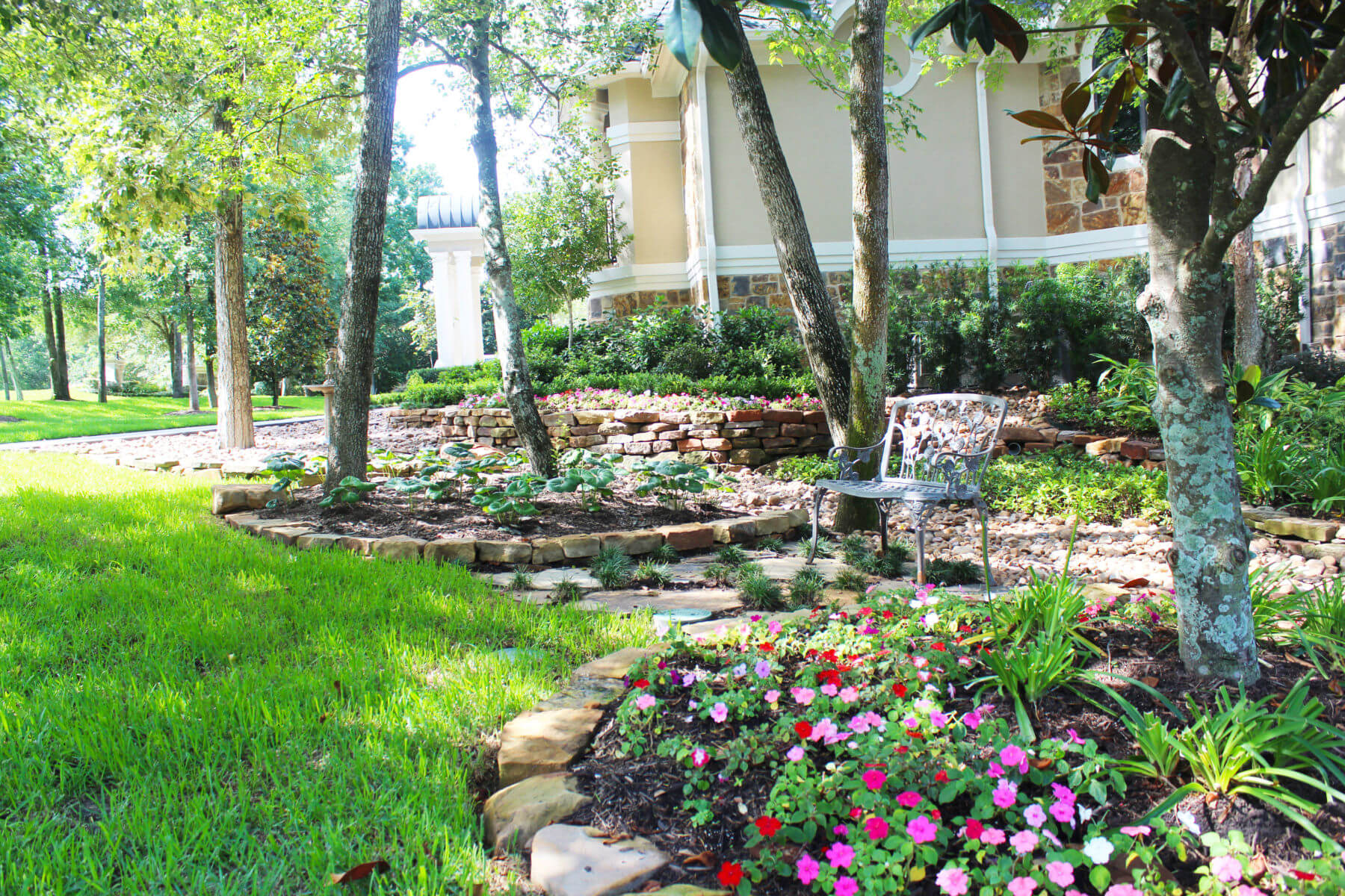 Summer Landscaping Tips with Joby Bonnot - Ranch House ... on ranch house curb appeal landscaping, ranch landscaping ideas, ranch house landscaping designs,
