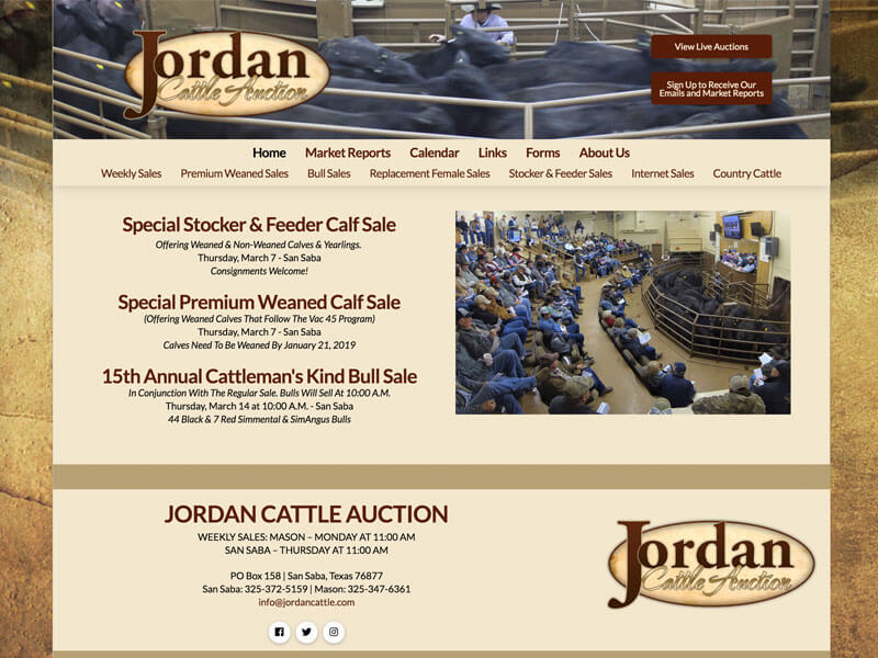 Auction Web Design Ranch House Designs Jordan Cattle Auction